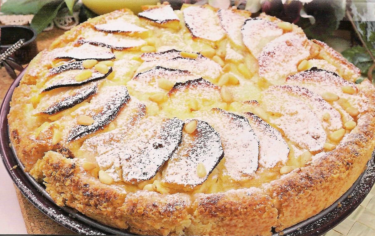 Пирог со сметаной с яблоками рецепт