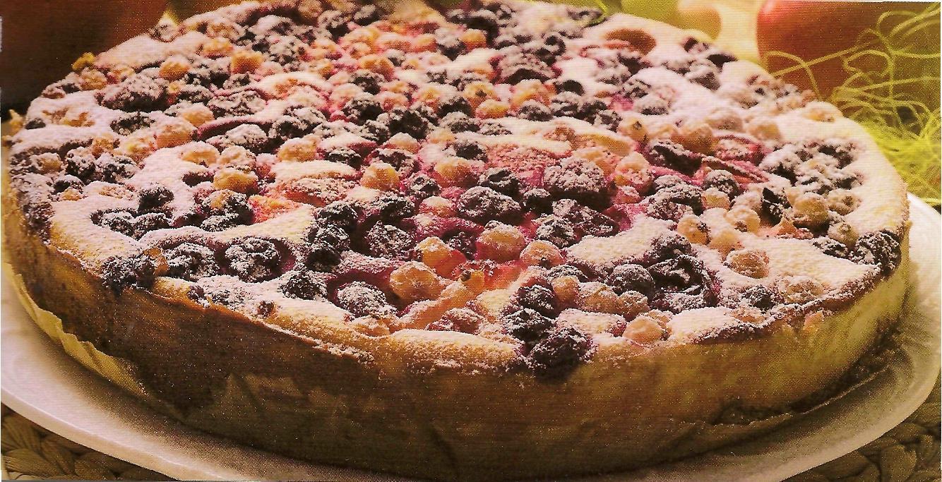 392Пирог с ягодами и творогом из песочного теста рецепт с