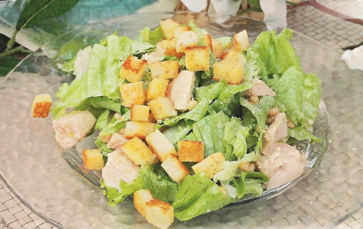 С курицей рецепт салат цезарь рецепт