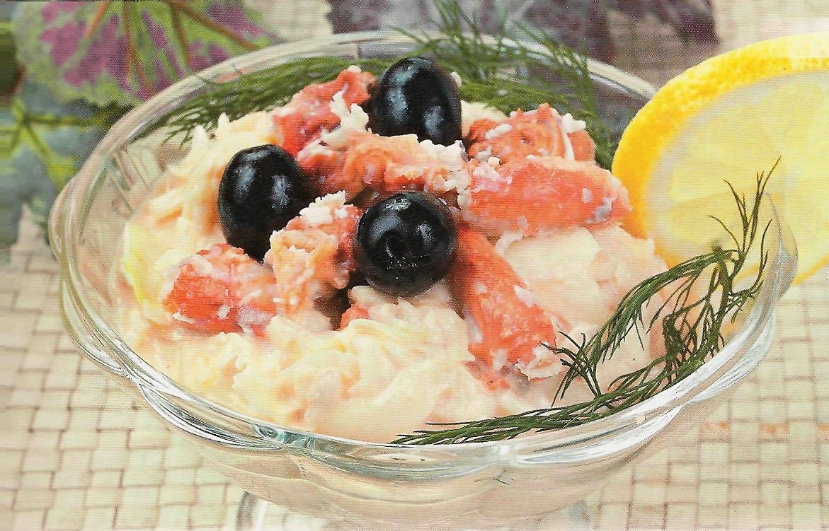 Фото рецепт классического салата из кальмаров