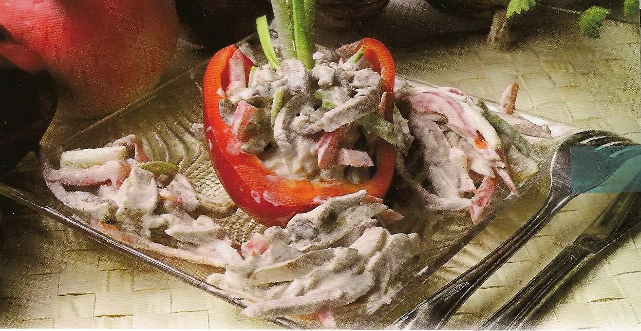 салат с говядиной перец рецепт
